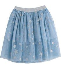 stella mccartney kids silver stars tulle skirt