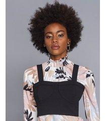 blusa com sobreposição top sweet - lez a lez