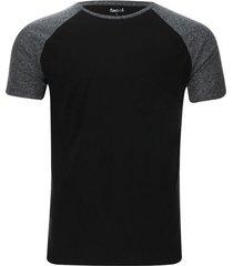 camiseta manga ranglan descanso color negro, talla l