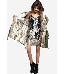 cappotti con tasche con cappuccio caldo jazzevar per le donne