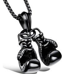 dije collar guantes boxeo acero inoxidable mgx1095 negro