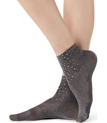 calzedonia fancy socks with appliqué rhinestone details woman black size tu