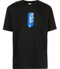 supreme payphone print t-shirt - black