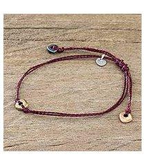 beaded cord bracelet, 'corn is life' (guatemala)