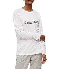 calvin klein 000qs6164e l/s crew neck t shirt and tank longwear women white