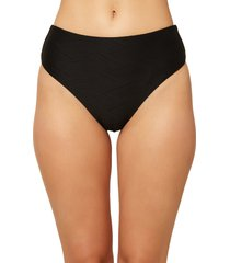 women's o'neill saltwater solids textured high waist bikini bottoms