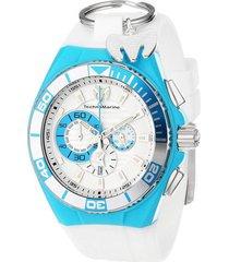 reloj  technomarine tm-112013out blanco nylon