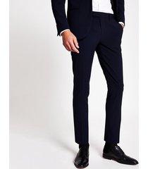 river island mens navy super skinny suit pantss
