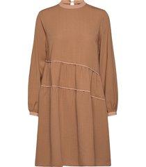 yaspammi ls dress kort klänning brun yas