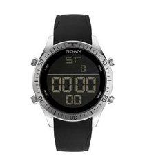 relógio masculino technos digital - bjk006ad2p prateado