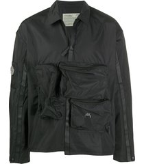 a-cold-wall* multi-pocket windbreaker jacket - black