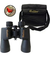 galileo 8 power wide angle binocular with 40 mm lenses, case and shoulder strap