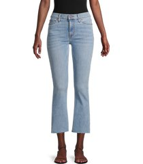 hudson women's cropped bootcut jeans - light blue - size 29 (6-8)