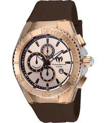 reloj technomarine tm-115217 marrón silicona