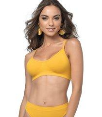 suti㣠nadador ultraleve demillus 61404 amarelo ouro - amarelo - feminino - dafiti