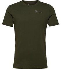 alder knowledgecotton tee - gots/ve t-shirts short-sleeved grön knowledge cotton apparel