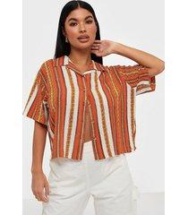 abrand jeans a cropped hawaiian shirt skjortor