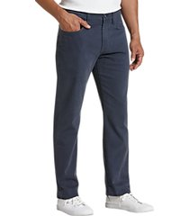 joseph abboud navy classic fit sateen twill casual pants