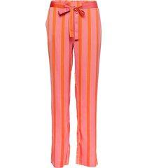 nadine print pants byxa med raka ben orange modström