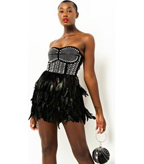 akira ruffle some feathers corset dress