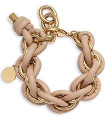 knotty leather wrap chain bracelet in gold/blush at nordstrom