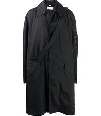 random identities oversized trench coat - black