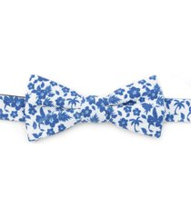 men's cufflinks, inc. tropical cotton bow tie, size one size - blue