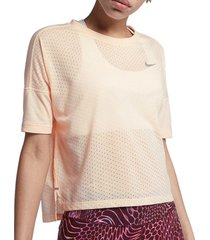 t-shirt korte mouw nike tailwind cool ss top women