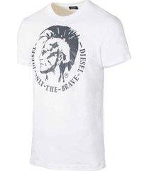 camiseta diesel t-head branca