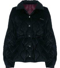 aalto padded corduroy jacket - black