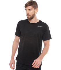 polera nike m nk dry superset top ss negro - calce regular