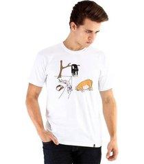 camiseta ouroboros gatos de dalí masculina