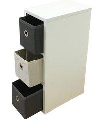 gaveteiro organibox cinza - tricae