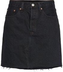 hr decon iconic bf skirt left knälång kjol blå levi´s women