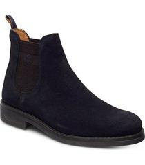 brookly chelsea shoes chelsea boots svart gant