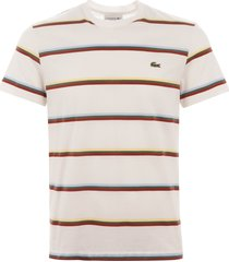lacoste triple stripe t-shirt - flour th4444-2cq