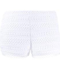 charo ruiz ibiza lace shorts - white
