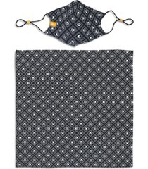 construct x best friends unisex paw print geo curved mask and bandana set