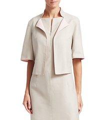 aloe reversible short sleeve cotton jacket