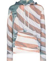 424 american flag cotton hoodie - 108 - multicoloured