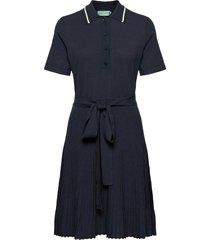 cadence knit dress jurk knielengte blauw morris lady