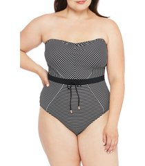 plus size women's la blanca one-piece bandeau swimsuit