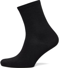 ladies anklesock, plain merino wool socks lingerie socks regular socks svart vogue