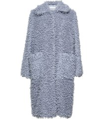 taylor coat outerwear faux fur blauw stand studio