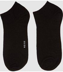 reiss mendes - ankle socks in black, mens
