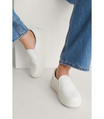 na-kd shoes slip-in-träningssko - white