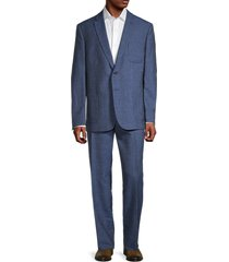 lauren ralph lauren men's slim-fit wool-blend suit - bright navy - size 42 r