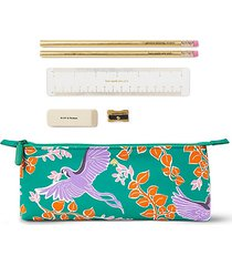 bird party 6-piece stationery & pencil case set