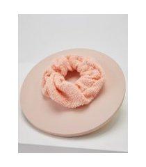 amaro feminino scrunchie atoalhado, rosa quartzo