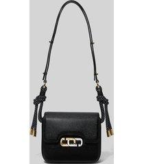 marc jacobs women's the j link twist mini shoulder bag - black/white